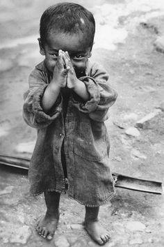 Cute child praying