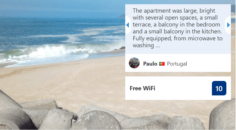 perfect holiday apartment: good reviews