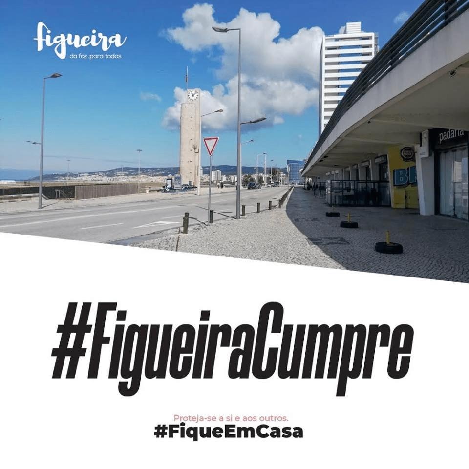 Imagem promocional da administração do município para a campanha #fiqueemcasa