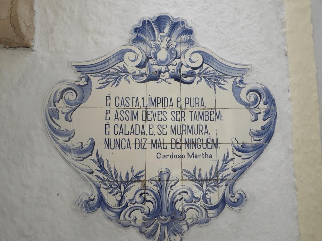 """Azulejo """"Trovas Cardoso Martha"""" - Rogério Reynaud 1946"""