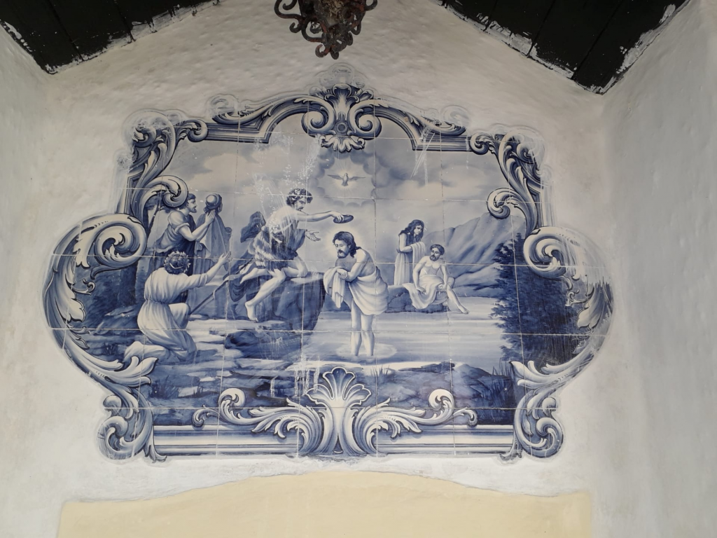 Azulejo Batismo de Cristo - Rogério Reynaud 1946